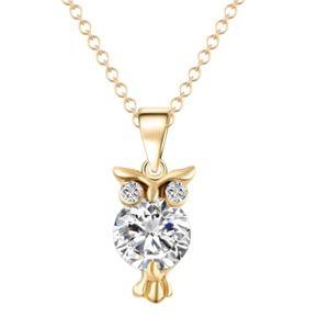 Jewelry - Crystal Cubic Zirconia Owl Necklace